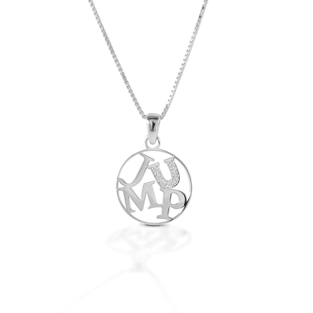 Kelly Herd Jump Pendant - Sterling Silver - Equitique-USA