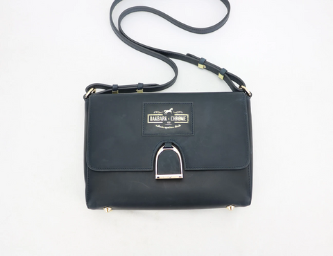 Oakbark and Chrome Shoulder Bag in Twilight