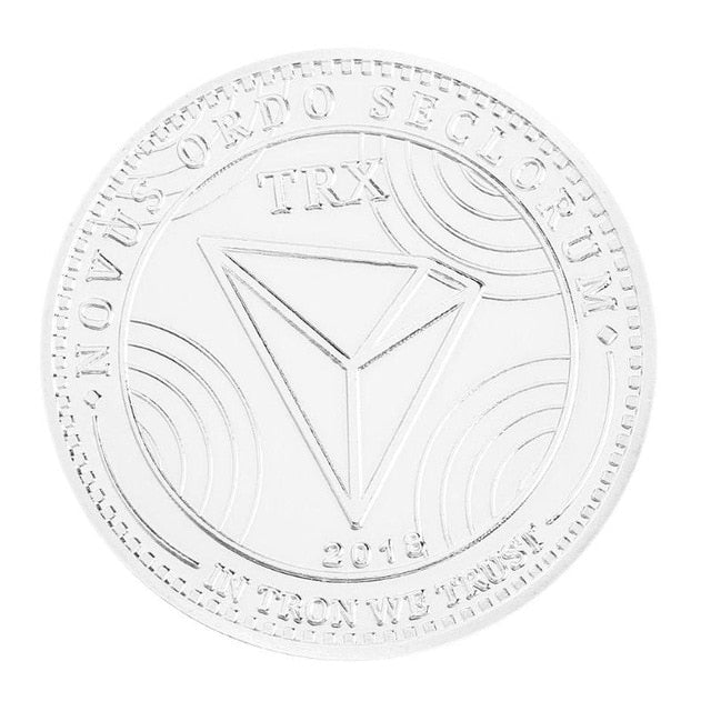 Silver /Gold Plated TRX Coin