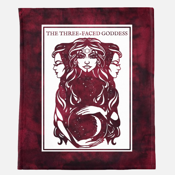"""Three-Faced Goddess"" Throne of Glass Minky Blanket"