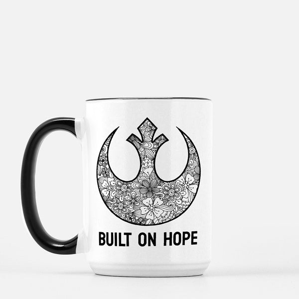 """Built on Hope"" Star Wars 15 oz Ceramic Mug"