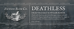 LUXE LINE: Deathless Dead Sea Salt & Sugar Scrub (4oz)