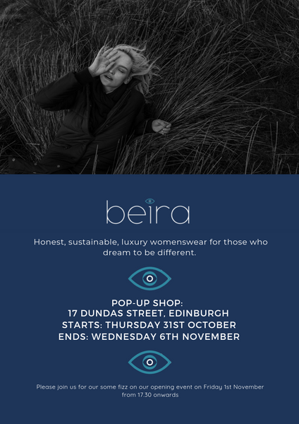 Exciting news! We are hosting our first pop up in Edinburgh!
