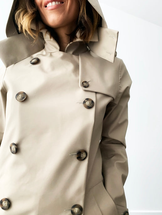 Drida Raincoat in Beige - Limited edition of 6