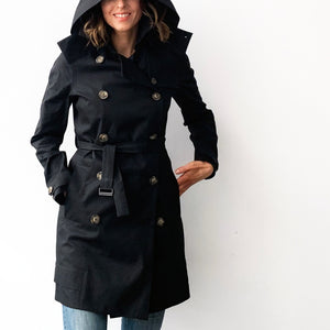 Drida Raincoat in Black Linen - Limited edition of 14