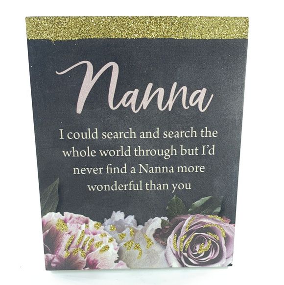 Nanna sentimental plaque ~Kelly Lane 12 x 15cm