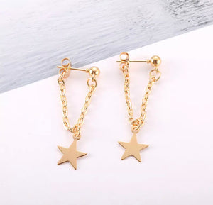 Sweet Small Star Earrings for Gift Party Wedding Jewelry Accessories