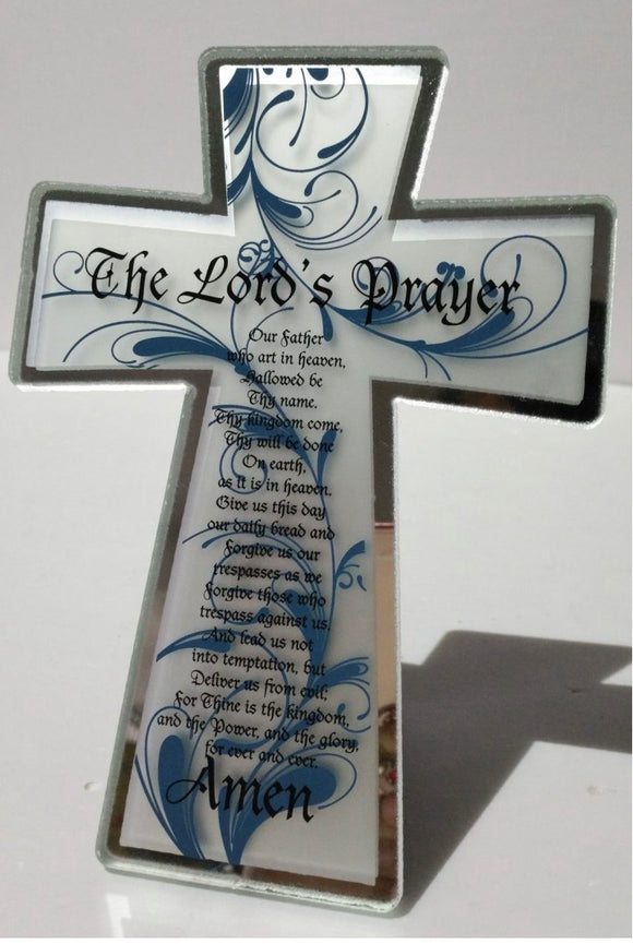 The Lord's Prayer ~ Cross Plaque