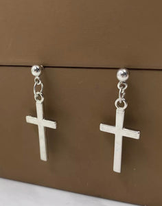 Fashion  Cross Pendant Cartilage Drop Dangle Earrings Punk Jewelry For Cool Women Girl Friendship Gifts