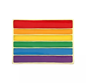 LGBT Design Rainbow Creative Flag Gay Pride 🏳️‍🌈 Pin Brooch Metal Pins Badge Denim Enamel Lapel Jewellery Gift  unisex