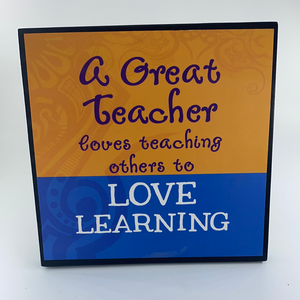 Sentimental Teacher Plaque