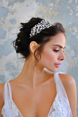 ALICE Wedding Headband, Swarovski Headpiece