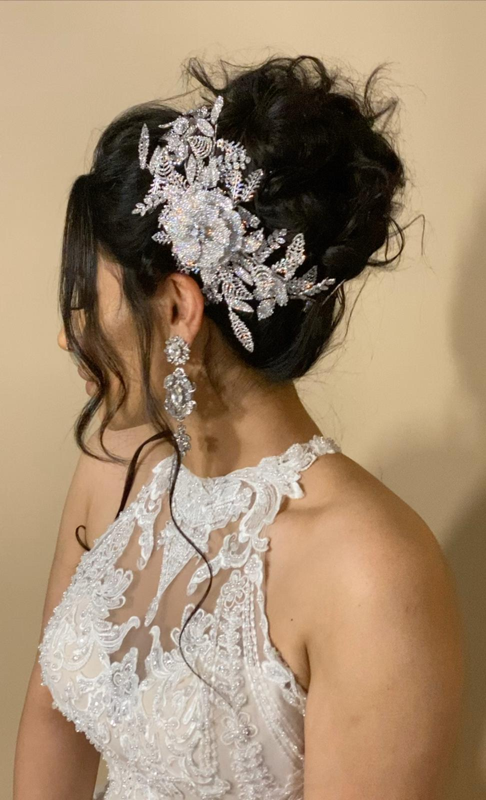 ANEMONE Swarovski Hair Comb, Wedding Headpiece
