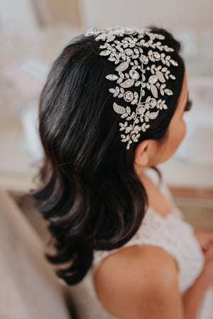 ARABELLA Wedding Headband, Swarovski Bridal Headpiece
