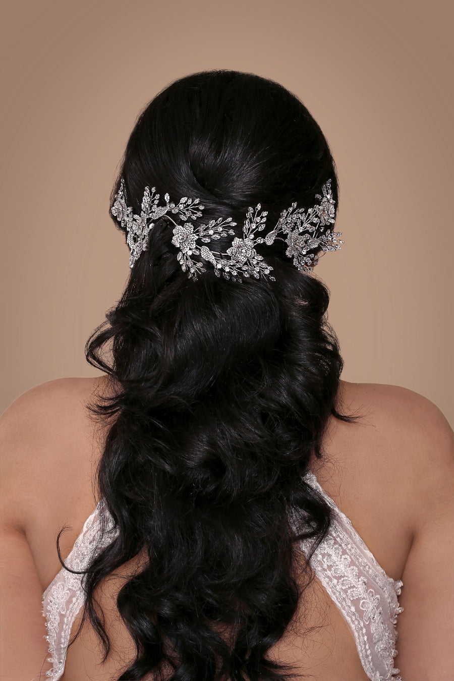 AUDREY Swarovski Wedding Hair Vine, Bridal Headpiece