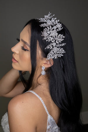 AURELIA Swarovski Wedding Headpiece with Micro Zirconia