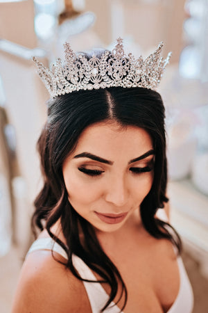 AURORA Swarovski Bridal Crown