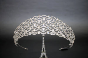 ALBERTA Wedding Crown comes in Silver Or Rose Gold