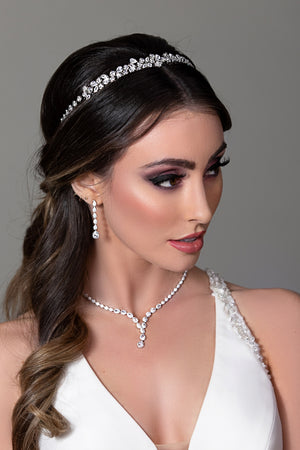 ALIX Wedding Headband, Swarovski Bridal Tiara