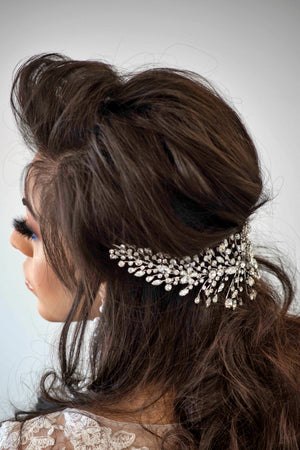 CHARLOTTE Bridal Headband, Swarovski Wedding Headpiece