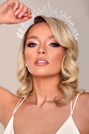 ELAYNE Luxurious Modern Bridal Tiara