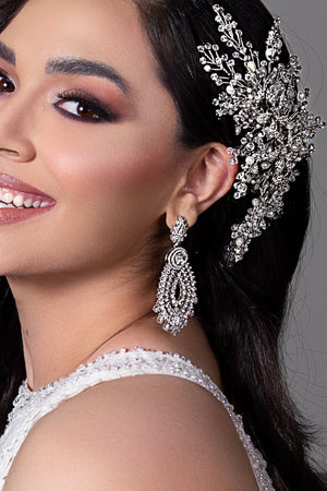 ESME Luxurious Bridal Earrings with Swarovski Crystals