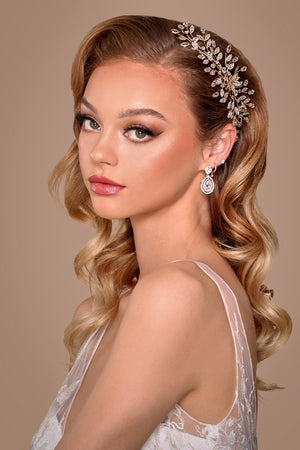 JACQUELINE Bridal Headpiece, Swarovski Hair Comb