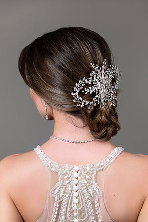LULIA Bridal Hair Comb with Swarovski Crystals