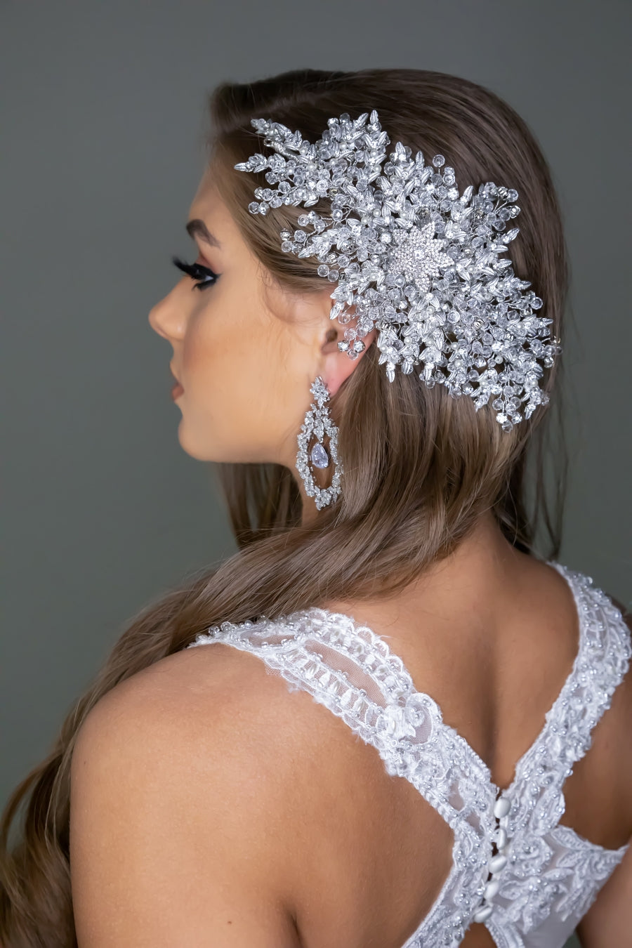 MARQUESA Bridal Headband, Swarovski Wedding Headpiece