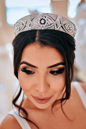 MEGHAN Swarovski Bridal Tiara and Crown