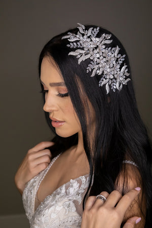 NERISSA Swarovski Wedding Headpiece, Bridal Hair Comb