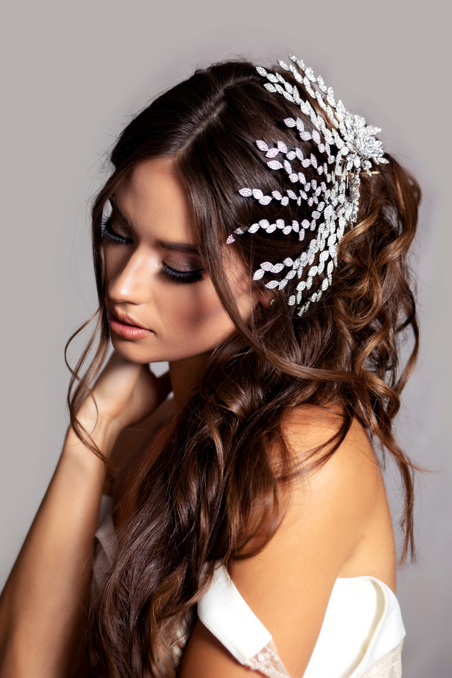 ANOUSHKA Swarovski Bridal Hair Comb, Swarovski Hair Wings