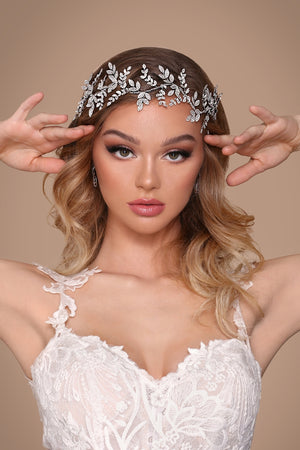 OLIVIA Bridal Headband with Luxurious Swarovski