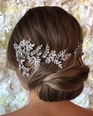 OPAL Swarovski Bridal Hair Wings, Swarovski Hair Comb