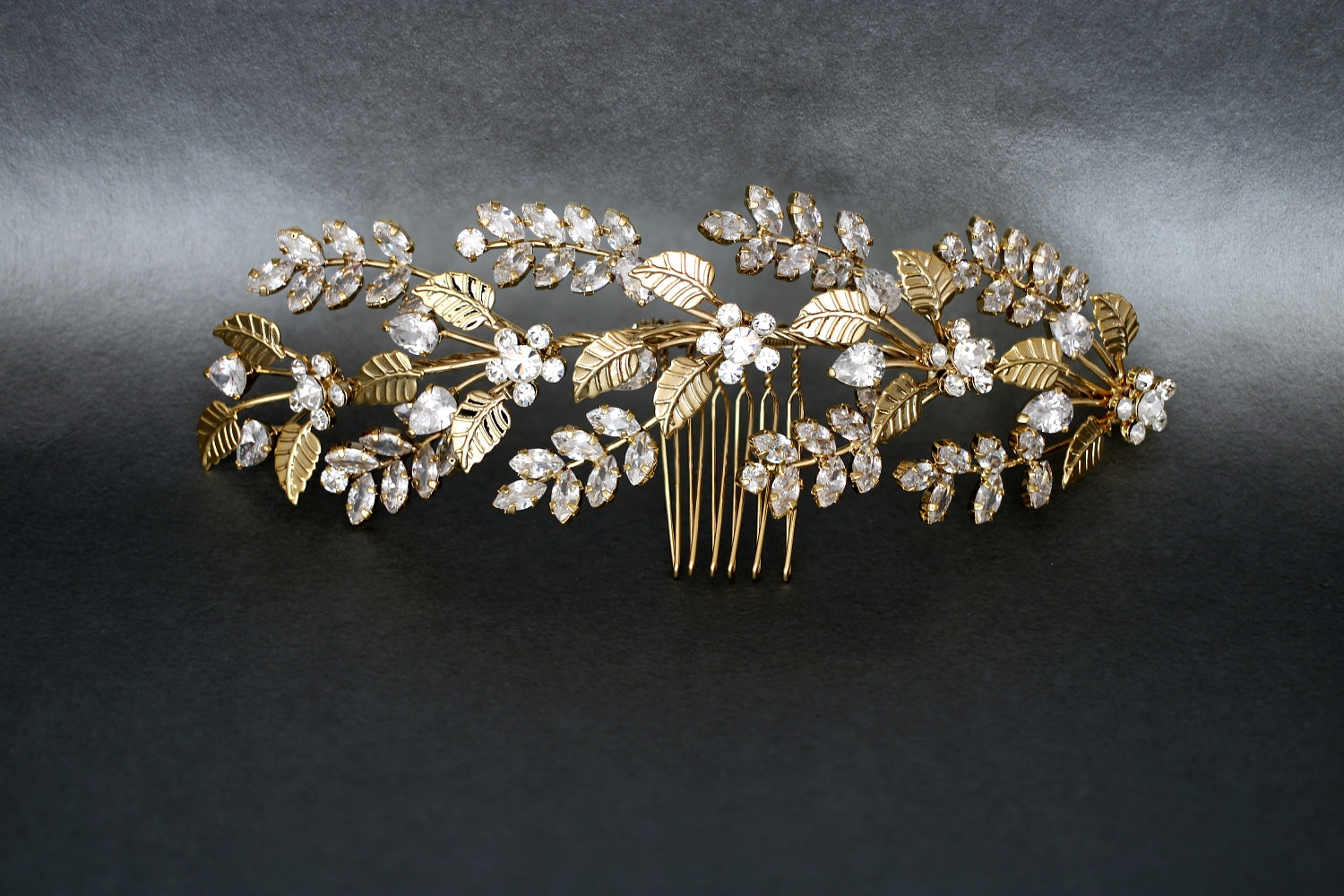 RAIN Wedding Headpiece, Swarovski Hair Comb