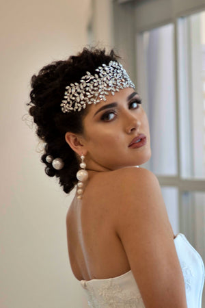 RAIYA Bridal Headpiece, Swarovski Wedding Headband