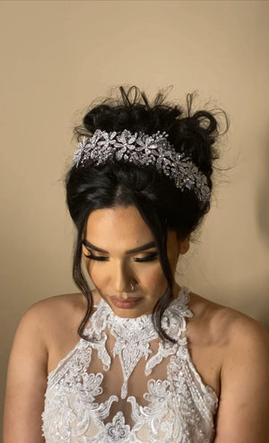 ROSALEE Swarovski Wedding Headpiece with Micro Zirconia