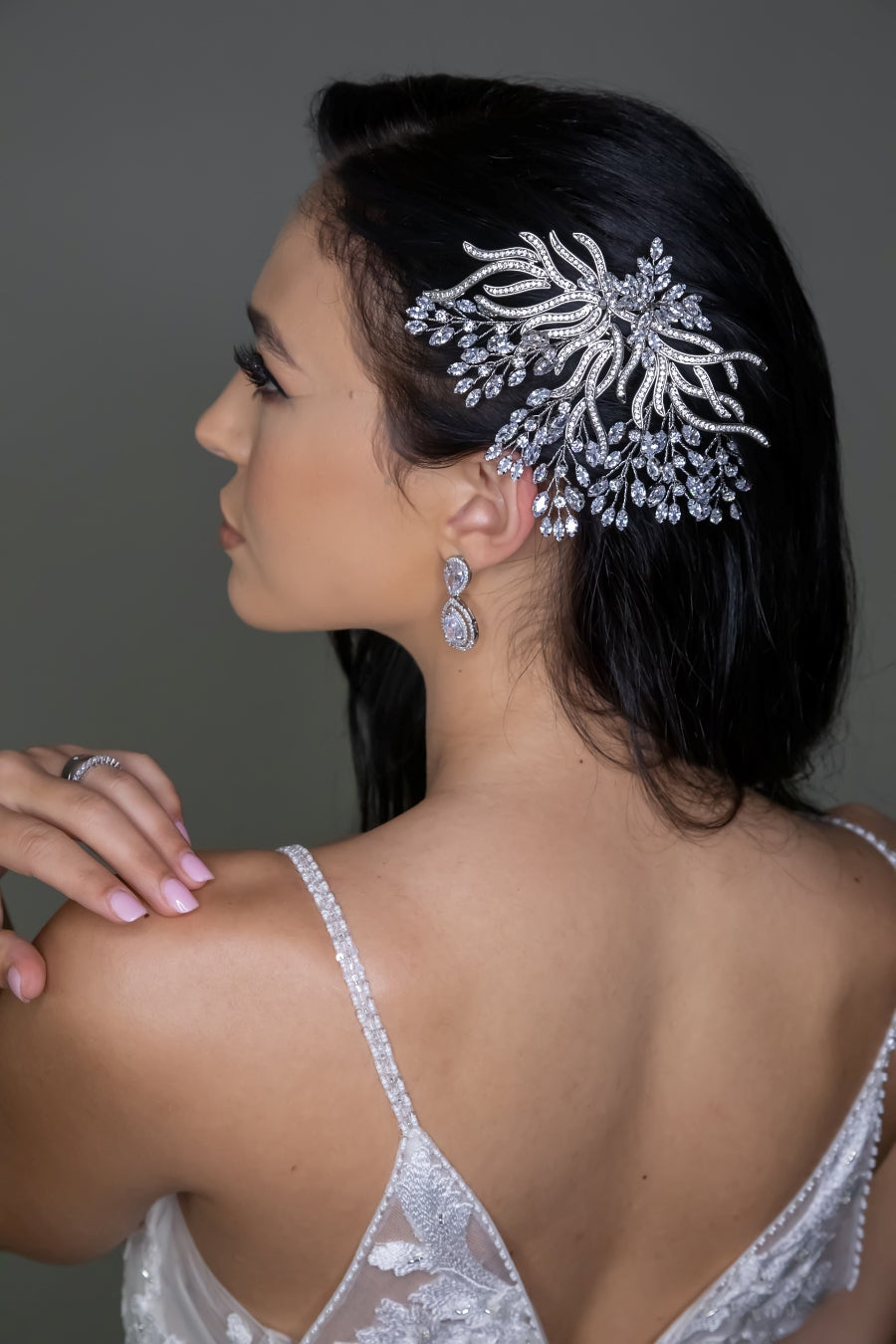 SERENA Swarovski Hair Comb, Wedding Headpiece