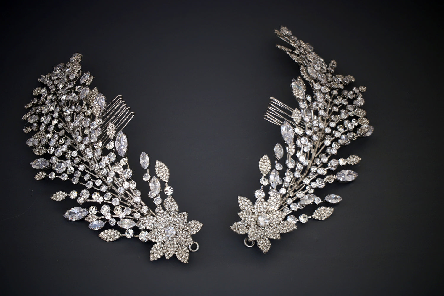 STEPHANIE Swarovski Bridal Headpiece,  Wedding Hair Comb