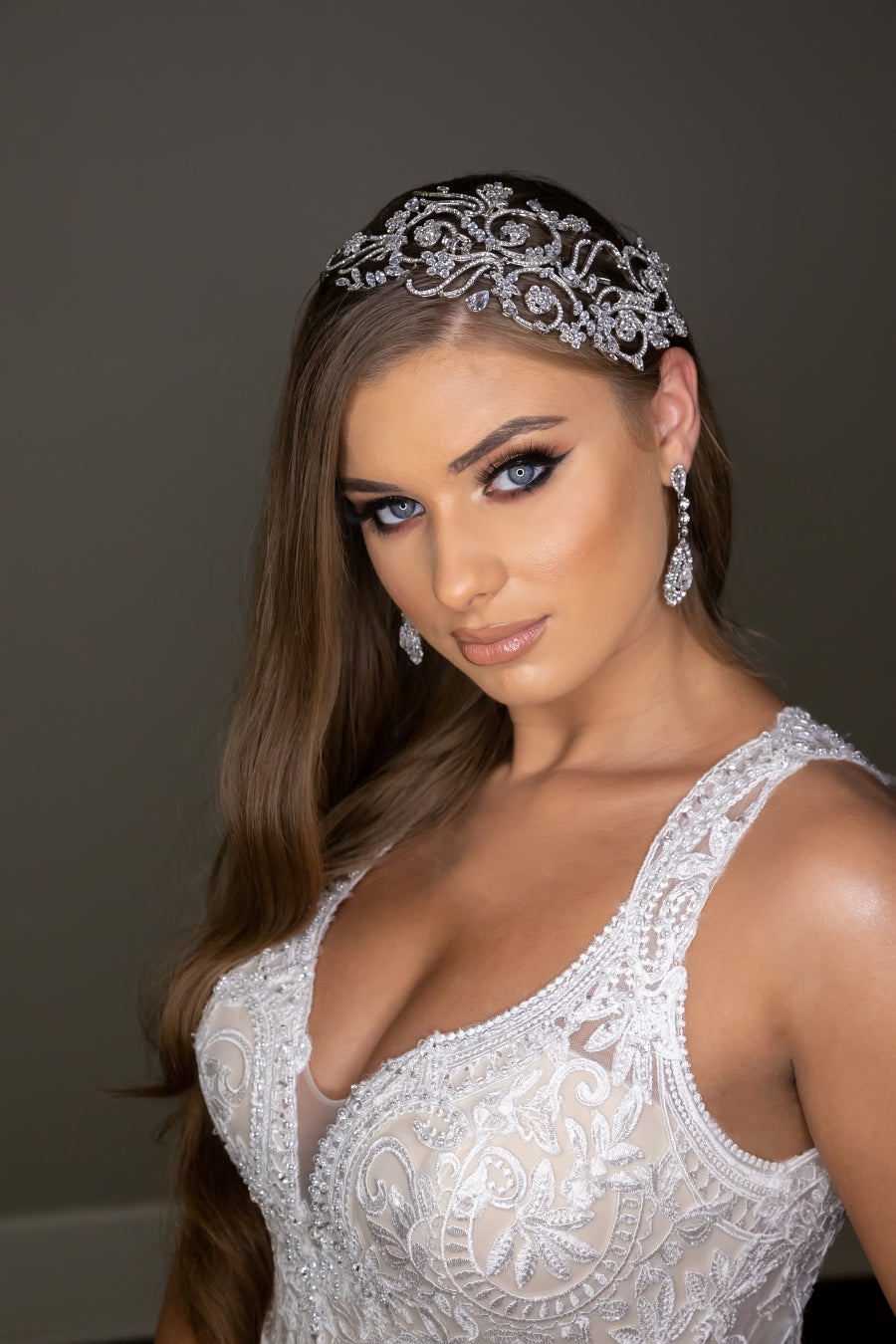 VIVIANA Swarovski Headpiece, Wedding Side Pieces