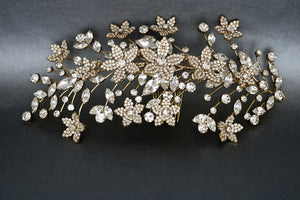ZARA Swarovski Hair Comb, Both Sides Bridal Headpieces