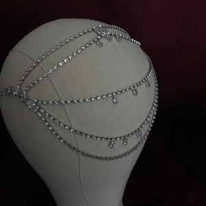 DAWN Bridal Forehead Jewelry with Swarovski Crystals