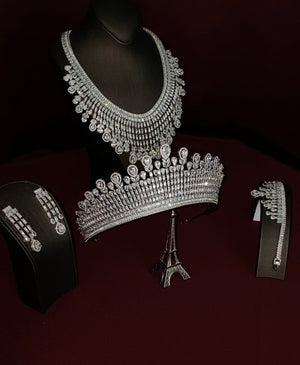 THE DUCHESS Royal Crown and Bridal Jewelry Set