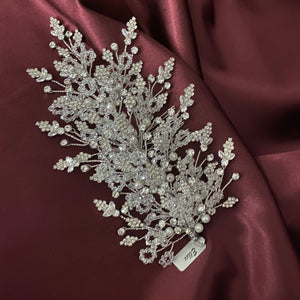 GRETA Swarovski Hair Comb, Wedding Headpiece with Pearls