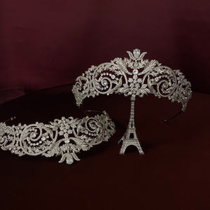 YASMIN Luxurious Bridal Tiara with Swarovski Crystals