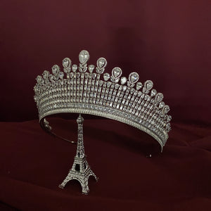 THE DUCHESS Royal Crown, Bridal Crown with Brilliant Swarovski Crystals