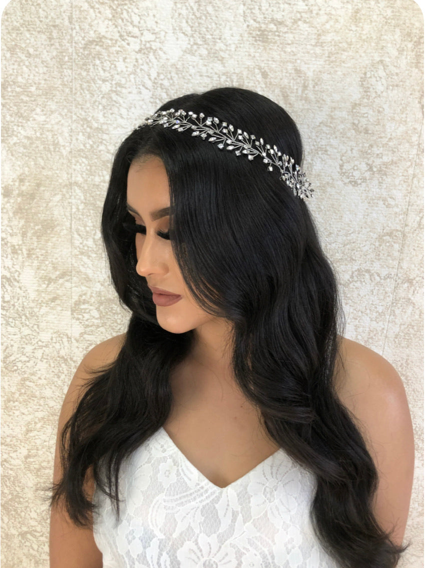 MIHAI HALO Bridal Hair Vine with Swarovski Crystals