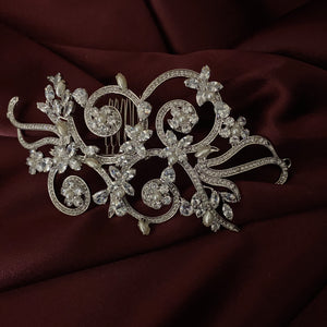 VIVIANA-PEARLS Swarovski Hair Comb with Pearls