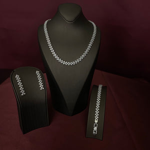 CARINO Wedding Jewelry Set with Necklace, Bracelet, Earrings and Ring