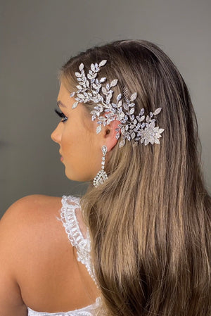 NIKA Swarovski Bridal Hair Wings, Swarovski Hair Comb